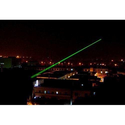 Зеленая лазерная указка + 5 насадок