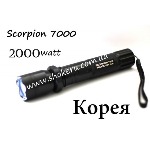 Электрошокер Scorpion 7000 POLICE 2000 watt Корея 2017 года оригинал