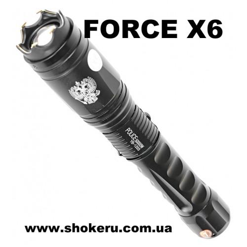 Компактный и мощный электрошокер 1203  FORCE X6 оригинал для самообороны