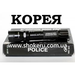 Электрошокер Scorpion 8000 POLICE 4000 watt Корея 2018 года оригинал