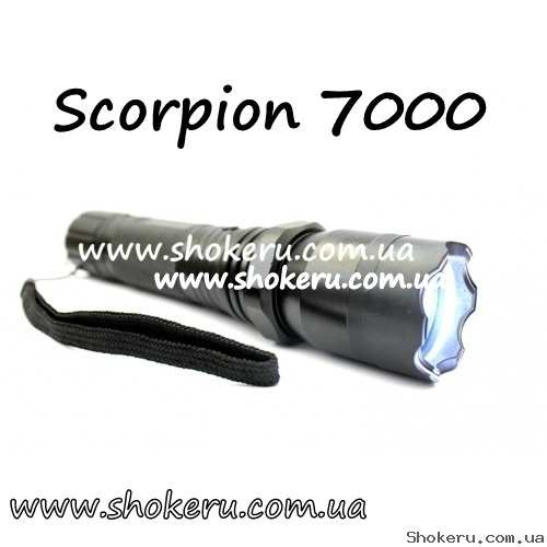 Электрошокер Scorpion 7000 POLICE 2000 watt - устройство премиум класса, Корея 2017 года, оригинал