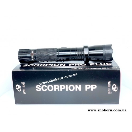 Электрошокер  фонарь (Скорпион про плюс) Scorpion Pro Plus Корея 2020